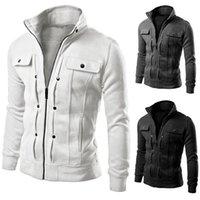 amazon jacket - Foreign manufacturers selling Amazon hot men s fashion collar cardigan jacket decorative buttons Hoodies Sweatshirts