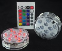 Wholesale NEW Remote Control Colorful Aquarium LED Lighting Diving LEDs Waterproof Underwater Electronic Candle Lighting Fish Tank Lamp