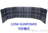 Wholesale 120W Foldable fabric Monocrystalline solar panel OEM ODM