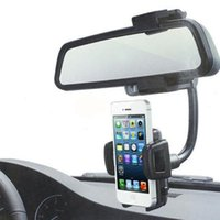 Wholesale Universal Car Rearview Mirror Mount Holder Stand Cradle For Cell Phone GPS