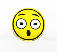 amazing smile - 10 Pieces Cartoon Emoticons Amaze Smile Face x cm Kids Patch Velvet Embroidered Applique Iron on Patch ALW