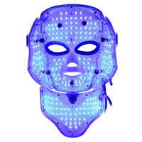 Wholesale New Coming LED Photon Light Facial Neck Mask Skin Rejuvenation Wrinkle Acne Anti aging PDT With BIO For Acne Removal