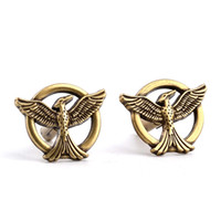 antique cuff links - Movie Jewelry The Hunger Games Antique Bronze Vintage Bird Mockingjay Cuff Links Brand Cuff Buttons Top High Quality Cufflinks For Men