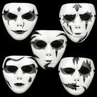 ball wedding theme - Halloween Plastic Mask for Adult Fashion Party Scary Horro Mask Ghost Mask Face Masquerade Cosplay Party Ball Costume Theme Prop Decoration