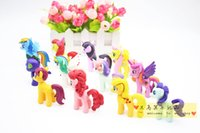 Wholesale 12 set cm my little pony cute pvc lovely action toy figures dolls for girl birthday christmas gift