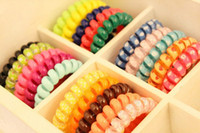 Wholesale high quality Queen Hair Jewelry Hair Styling Telephone Cord Elastic Ponytail Holders Hair Ring Scrunchies Rubber Band Beauty Hair Tools
