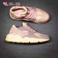 Wholesale With original box Famous Trainers Air Huarache Women Classic s Sports Running Shoes Pink Size