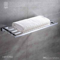 Wholesale Han Pai Brass Bathroom Accessories Towel Bar Rack Holder Chrome Finished Wall Mounted Bath Acessorios de banheiro HP7760