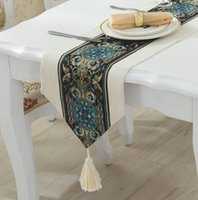 Wholesale Factory direct Linen embroidery Embroidery table runner European style table runner