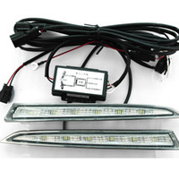 Wholesale 1x Pair of V LED DRL Daytime Running Lights Driving light Fog Lamp for for Ford ESCAPE KUGA LM waterproof