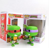 Wholesale Teenage Mutant Ninja Turtles Vinyl Figure Hot Cartoons mini Decorative Collection Model KidsToy without Box Hot Sale