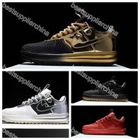air force ones - 2016 Air KPU Mens Running Shoes Force I Men Shoes Skateboarding Airforce Sneaker Sports Trainers Air Force One Shoes Gold White Size