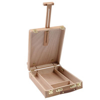 artist easel box - Art Drawing Painting Durable Adjust Wood Table Sketch Box Desktop Artist Easel