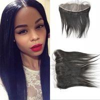 Cheap Virgin hair silk base frontal closure straight Asian human Hair middle free 3 part 13*4 silk frontal fast shipping