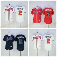 atlanta teams - Flexbase Dansby Swanson Jersey Atlanta Braves Dansby Swanson Baseball Jerseys Flexbase Dark Blue Red White Color Team Embroider Logos