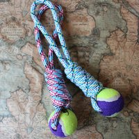 Wholesale Pet Dog Cotton Braided Rope Chew Tug Knot Ball Playing Teeth Clean Toy For Dog