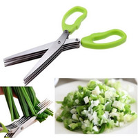 Wholesale Kitchen Knives Multifunctional Stainless Steel Scissors Layers Spices Minced Green Onion Cut Scissors Kitchen Tools