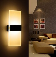 Wholesale LED Wall Lamp Acryl Metal Home Lighting Lamparas De Pared Stair Bathroom Iron Wall Sconce Abajur Luminaria