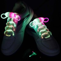 Cheap Wholesale-Cool LED Flash Shoelaces Light Up Party Skating Charming Shoe Laces Shoestrings Fun Party Decor