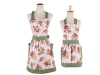 apron - Mother and Daughter Apron Cotton Canvas Floral Blossom England Style Apron Mommy and Me Apron