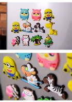Wholesale Newest Cartoon Fridge Magnets colorful Creative cute Early Learning Decoration Stickers Fridge and Furniture