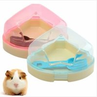 Wholesale Pet Hamsters Mouse House Cage Corner Toilet Potty Box With Star Roof Scoop Hamster Cleaning Tools