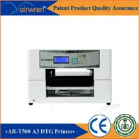 Wholesale 2016 new product high quality digital A3 format cheap t shirt inkjet flatbed printing machine for AR T500