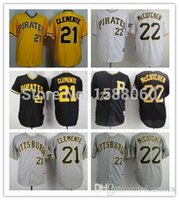 andrew mccutchen shirts - New Pittsburgh Pirates Roberto Clemente Baseball Jerseys Andrew McCutchen Men s Stitched Authentic Sports Shirt Wholesa