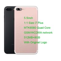 Wholesale Goophone i7 PLUS Cell phones quot MTK6580 Quad Core M GB GB GB GB SD Card Show G GB GB android Smartphone