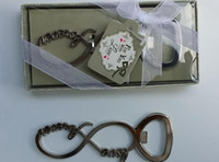 beer bottle decorations - Forever Love Number Metal Beer Bottle Opener Wedding Favors Gifts Party Decoration Gift for Guest