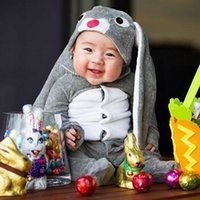 baby pants with footies - Baby Jumpsuits Rompers Footies Pants Kids Cartoon Bunny Cotton Set With Rabbit Ears Hat Cap Newborn Boys Girls Toddler Leggings Trousers