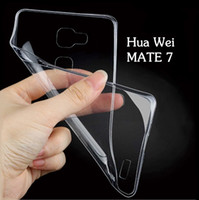 Wholesale 2016 NEW Hua Wei Cell Phone Cases For Hua Wei Mate7 Ultra Thin Crystal Transparent Soft TPU Silicone Cover MM Cell Phone Accessories