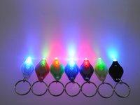 La cadena libre de DHL 7 llavero linterna LED de color Mini Torch Key Clave blanco del anillo LED verde se enciende UV LED Bombillas Ton II fotón 2 Mini 7E Luz