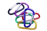 big carabiners - Keychains Colorful Aluminum Carabiner Durable Climbing Hook Aluminum Camping Accessory Fit for Outdoor Sports