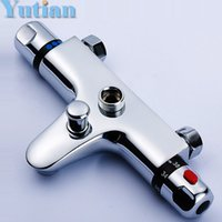 Wholesale Wall Mounted Two Handle Thermostatic Shower Faucet Thermostatic Mixer Shower Taps Chrome Finish YT A