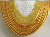 big house fabrics - 1 meter width x meter height big DIY gold sequin ice silk fabric wedding party event backdrop swags decoration detachable
