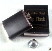 Wholesale Personalised Engraved Stainless Steel oz Hip Flask Funnel and Moulded Gift Box