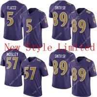 Wholesale Hot Limited Ravens C J Mosley Joe Flacco Steve Smith SR Stitched Embroidery Logos America Football Jerseys Sweatshirts