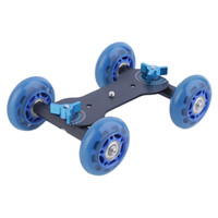 Wholesale Mini Desktop Mute Pulley Drift Car Flexible wheel Rail Rolling Track Slider Skater Table Dolly Car For DSLR Camera Camcorder