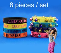 Wholesale New Hot Unisex Silicone Glow Bracelets Adult Sport Jelly Bangle With Bell Pieces Set