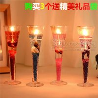 Wholesale Smokeless jelly candle goblet enduring as the universe aroma romantic candlelight dinner gift hotel decoration company