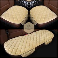 Wholesale 2016 Newest Three pieces Packaged Car Seat Cushions Short Plush Car Seat Covers Universal For All Cars
