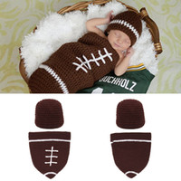 baby football costumes - baby sleeping bag bodysuit American football rugby costume sets infantis clothes for Newborn Photography Props wear clothing shower D093