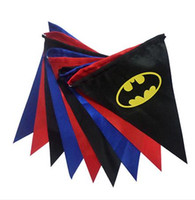banner posters - Birthday Party Comics Superhero flag Batman superman spiderman Poster Wall Flags Banner Christmas festive decorations