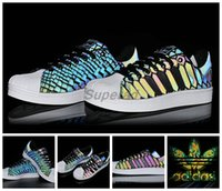 Wholesale Adidas Superstar Original Xeno M D69366 Reflective Snakeskin Originals Superstars Women Men Casual Shoes Classic Super Star Sneaker