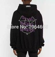 Cheap Wholesale-2016 2017 rare new hiphop design vetements total fucking darkness men unisex baggy oversized black hoodie Brand Sweatshirts S-XL