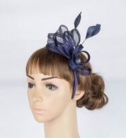 artistic materials - 17 colors artistic sinamay material fascinator headpiece wedding headwear race hat suit for all season MYQ027
