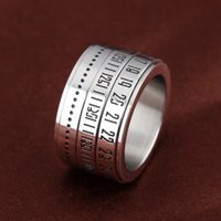 bar code design - Nunber Secert Codes Design Ring For Cool Man Punk Style mm width Size Stainless Steel Fashion Jewelry GJ511