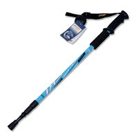 Wholesale Trekking Poles Adjustable Retractable Anti Shock Durable Aluminum Hiking Sticks for Outdoor Walking Trekking Climbing Piece