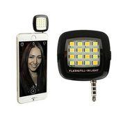 Wholesale Portable Mini LED Dimmable Light Cellphone Camera Flash Fill in Light Pocket Spotlight Photo Video Light Lamp Speedlite For Android Smart